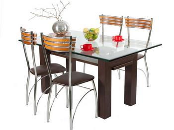 Компания Мебельщик.ру предлагает Вам стеклянные столы для кухни, журнальные столы из стекла и стулья на металлическом